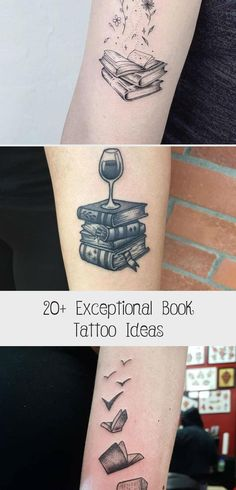 20+ Exceptional Book Tattoo Ideas #TattoosandBodyArtGod #TattoosandBodyArtIdeas #TattoosandBodyArtLife #TattoosandBodyArtScripts #TattoosandBodyArtWriting Tattoo Trends, Tattoo Ideas, Script S, Book Tattoo, Body Art Tattoos, Books, Livros, Libros, Book