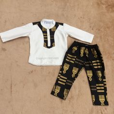 young gentleman's outfit in Ghanaian fabric