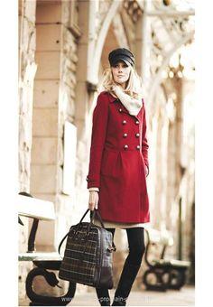 Femmes Barbour Fusilier manteau de laine rouge (Barbour Paris Madeleine)