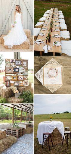 farm hay country chic wedding ideas