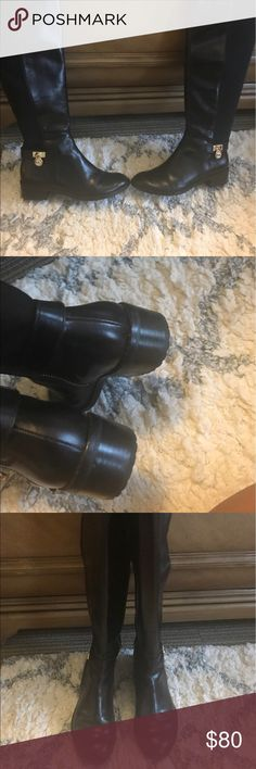 Micheal Kors Riding Boots In excellent condition worn maybe 5 times. No scuffs or marks Michael Kors Shoes Winter & Rain Boots