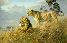 His African wildlife paintings became popular at a faster pace. Description from fineartblogger.com. I searched for this on bing.com/images