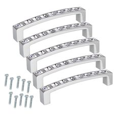 $7.30 (Buy here: https://alitems.com/g/1e8d114494ebda23ff8b16525dc3e8/?i=5&ulp=https%3A%2F%2Fwww.aliexpress.com%2Fitem%2F5-Pcs-lot-High-Quality-Furniture-Handles-Stainless-Steel-Crystal-Rhinestone-Door-Cabinet-Drawer-Pull-Handle%2F32597771813.html ) 5 Pcs/lot High Quality Furniture Handles Stainless Steel Crystal Rhinestone Door Cabinet Drawer Pull Handle for Kitchen Cupboard for just $7.30