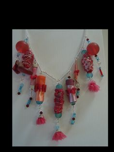 Colour Riot Chatelaine Necklace Boho Style. by angierichardson on Etsy