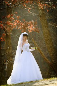 DB #bride Christina C. wearing Oleg Cassini at David's Bridal Style CWG322