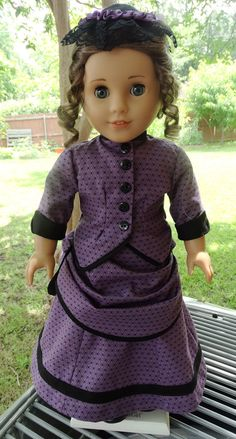 1870's Bustle Dress and Hat for AG dolls by Designed4Dolls on Etsy  $26.95