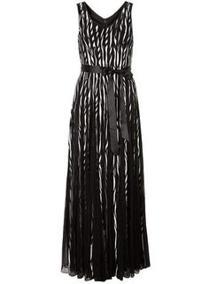 Chase 7 Black White Satin Stripe Dress - Maxi Dresses  - Dresses