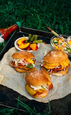 Fried Tofu Sliders with Spicy Peach Slaw | Earthy Feast