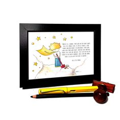 The Little Prince Illustration , Framed Print , Watercolor Painting by ColorJuice on Etsy
