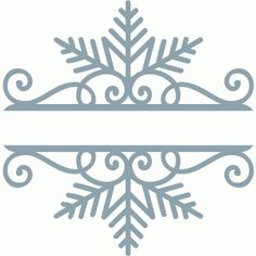 Silhouette Design Store - View Design #68564: split snowflake scroll