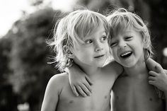 Sweet twin brothers with a great bond.....