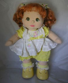 Original Yellow Jumper My Child Doll Outfit (with original shoes & socks)