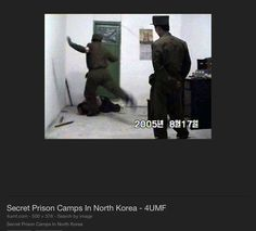 North Korean prison camp. Woman being tortured.