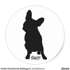 Bordador bulldog Francês by Bullylicous Adesivo