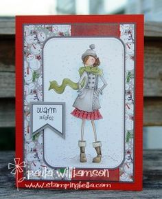 Stamping Bella Uptown Girls: Quinn in her Boots by Paula Williamson