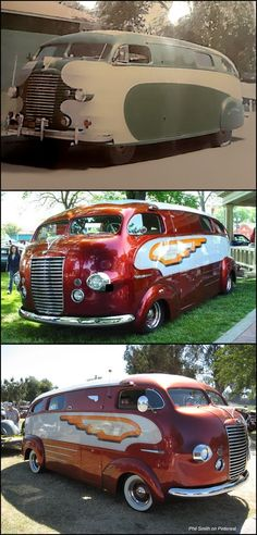 It's hard to believe that this stylish motorhome was built in Dubbed the Zeppelin by its current owner, famed customizer Art Himsl, the Zeppelin started out its life as a prototype house car built by a mechanic at the Chris- Vintage Trailers, Vintage Trucks, Classic Trucks, Classic Cars, Chevy Classic, Auto Camping, Motorcycle Camping, Unique Cars, Custom Vans