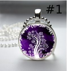 Handmade magical and whimsical tree pendants by safirediamond397, $45.00