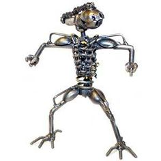 Small Alien Metal Art Collection