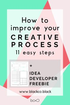 Ready to improve your creative process? Learn how to take advantage of your experience. Get your Idea Developer Freebie, perfect for your next idea!