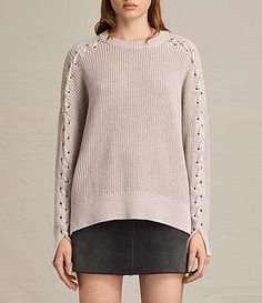 Womens Aria Laced Sweater (NUDE PINK) - product_image_alt_text_1