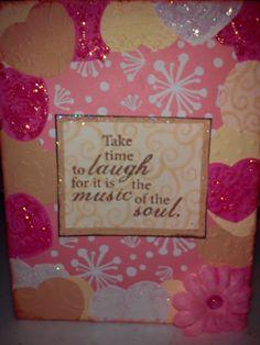 Cricut encouragement card