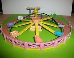 how to make model swing fairground ride for children craft. Good Resource for Digestive System Amusement Park.