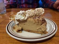 Sarah Gish -  Mid-day peanut butter #pie break with my husband at ladybird diner in #Lawrence.
