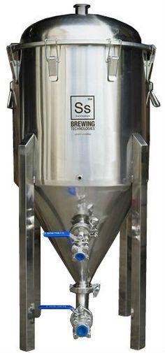 Ss BrewTech 17 Gallon Half Barrel Chronical Fermenter -- Certified food grade 304 stainless steel. High quality fittings & valves. 1 1/2