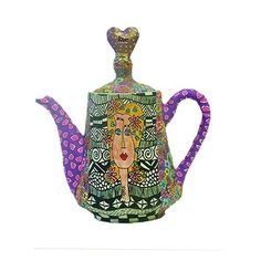 Whimsical+Teapots+|+whimsical+teapot+made+with+polymer+clay+original+drawing+and+polka+...