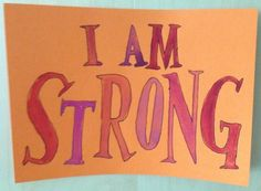 """affirmation, watercolor on colored paper, July 2013, about 5""""x8"""""""