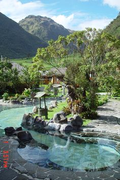Termas de Papallacta / hot springs high in the Ecuadorean Andes. Very relaxing day in the hot pools.