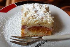 Marillen (Aprikosen) - Rahmkuchen mit feinen Streuseln
