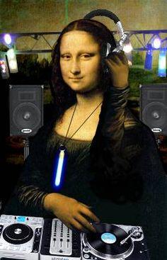 DJ Mona Lisa in da house Lisalla Montenegro, Mona Friends, Mona Lisa Parody, Mona Lisa Smile, Music Images, The Dj, House Music, Electronic Music, Oeuvre D'art