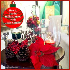 """Holiday Mood is all around with Glade Candles and Sugar Cookies for Christmas. Candles can set the Holiday mood in minutes! Here's an easy way to decorate your house with candles plus my recipe of my favorite sugar cookies with jam, """"JUMMY!"""" #GladeHolidayMood #CollectiveBias #shop @Glade #ad"""
