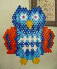 Owl hama perler beads by Leukgemaakt