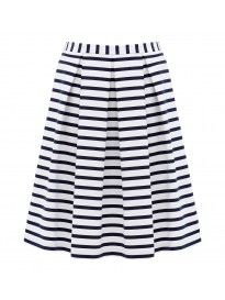 Stripe Sateen Midi Skirt Co-ord