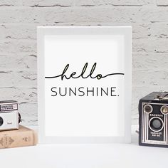 Hello sunshines. I'm getting a slow start today but the sun is shining so it's all good. You can this sweet printable in the shop! There's a link in my bio.  #etsy #etsyshop #homedecor #printables #printableart #nurserydecor #hellosunshine #nurseryart #girlboss #craftsposure
