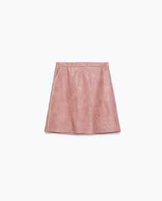 Image 8 of FAUX LEATHER SKIRT from Zara