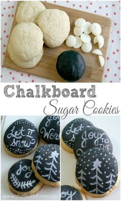 Holiday Chalkboard Sugar Cookies