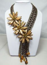 MULTI-STRAND NECKLACE WITH MOP PEARL TIGEREYE QUARTZ