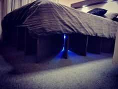 Done building my floating bed base and headboard