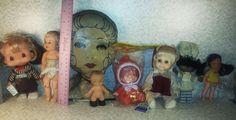Lot Vintage Baby Dolls New 3 faces, Katrina  Flatsy,Hee Wee plus #vintagedolls #vintagetoys