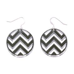 Chevron Earrings Mirror, $18, now featured on Fab.