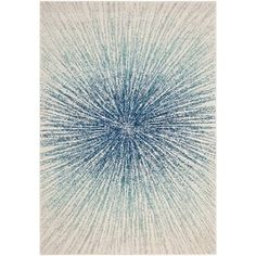 Safavieh Evoke Vintage Abstract Burst Royal Blue/ Ivory Distressed Rug (8' x 10') | Overstock.com Shopping - The Best Deals on 7x9 - 10x14 Rugs