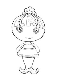 lalaloopsy doll coloring page for kids printable free little mermaid - Free Lalaloopsy Coloring Pages