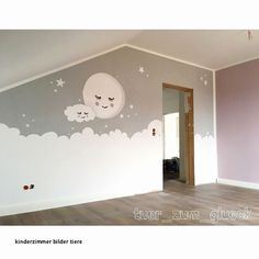 Babyzimmer Mond & Wolke Like Read 547 times, 39 Comments - Kristin ( . - Babyzimmer Mond & Wolke Like Read 547 times, 39 Comments – Kristin ( … – kinder – - Baby Boy Rooms, Baby Bedroom, Baby Room Decor, Nursery Room, Girls Bedroom, Bedroom Decor, Wall Decor, Moon Nursery, Baby Zimmer