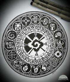 Inca & Maya symbols, Mandala by Oksana Stepanova on Behance