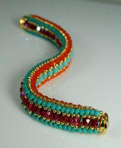 REVERSIBLE two in one beaded hip summer bracelet by createdbycarla