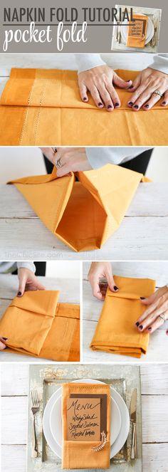 Pocket Fold Napkin
