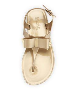8baad76386d Michael michael kors Kayden Bow Sandals in Gold